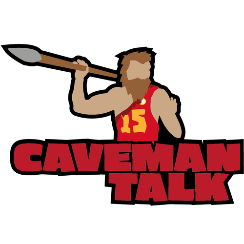 NFL design with the title 'Caveman Talk'
