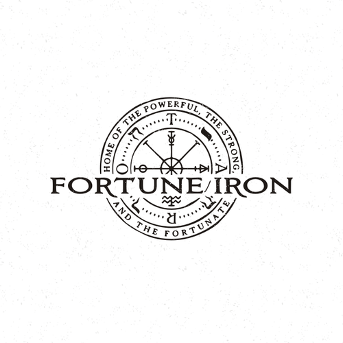 Wheel design with the title 'Wheel of Fortune Fitness Logo'