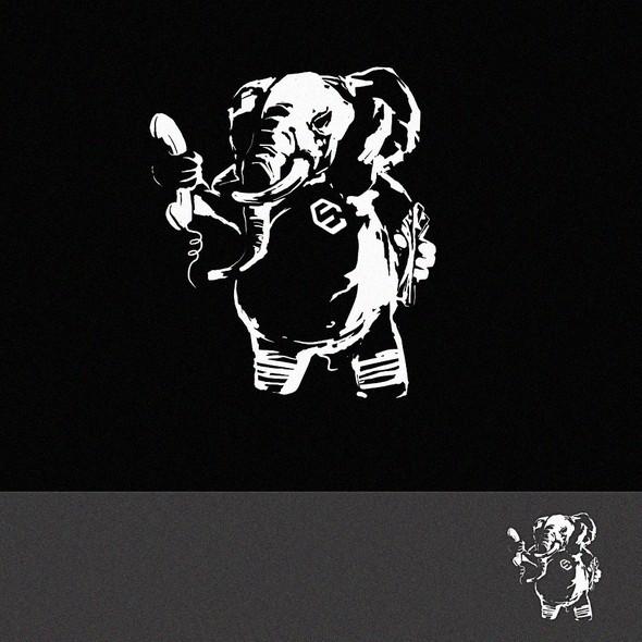 Elephant t-shirt with the title 'Elephant phone'