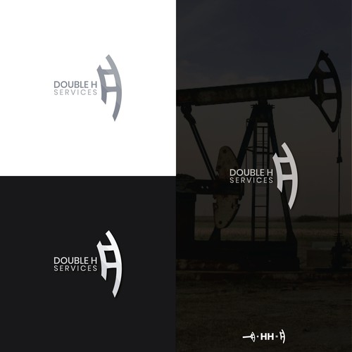 "Mining logo with the title 'Logo design for ""DOUBLE H""'"