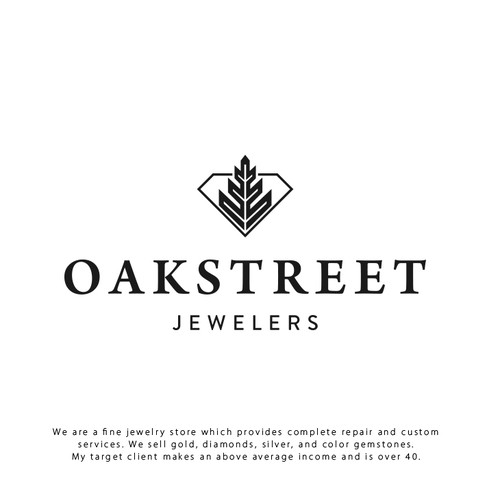 Jewel design with the title 'Jewelers Logo'