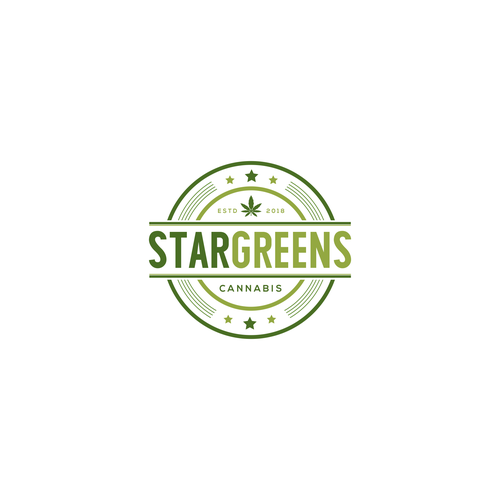 Pot logo with the title 'Star Greens Cannabis'
