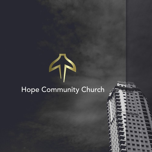 Church logo with the title 'Symbolic mark for a community church'