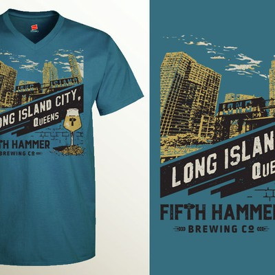 Promotional T-shirt design for Crafts Beers Brewery