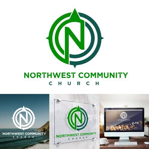 Jesus logo with the title 'Northwest Community Church Logo Design'