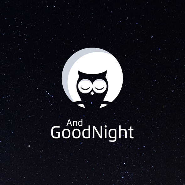 Sleep design with the title 'Logo for AndGoodNight'