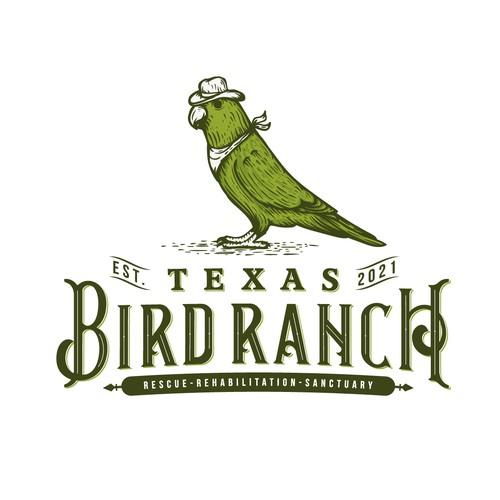 Rescue design with the title 'Texas Bird Ranch'