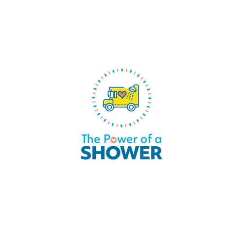 Shower logo with the title 'Logo for The Power of a Shower'