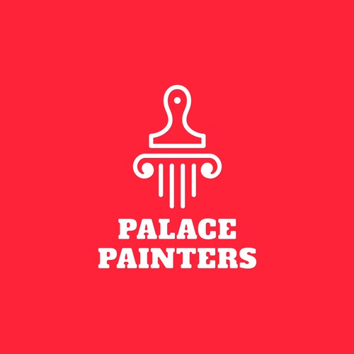 Brush and comb logo with the title 'Creative logo for creative palace.'