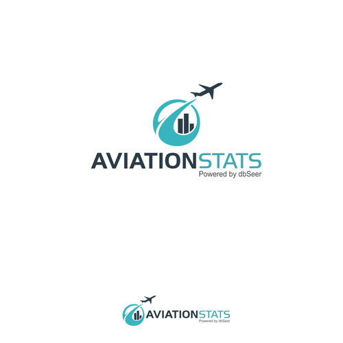 Aviation logo with the title 'Aviation Stats logo design'