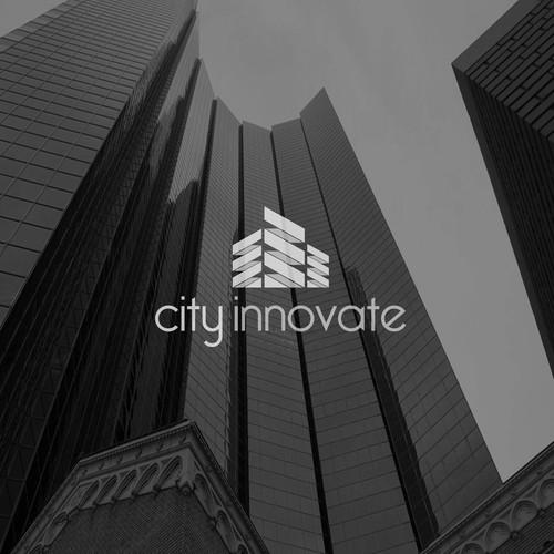 Futuristic brand with the title 'City Skyscraper'