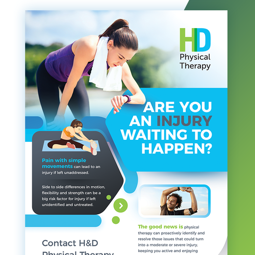 Running design with the title 'Physical Therapy - Flyer/Poster'