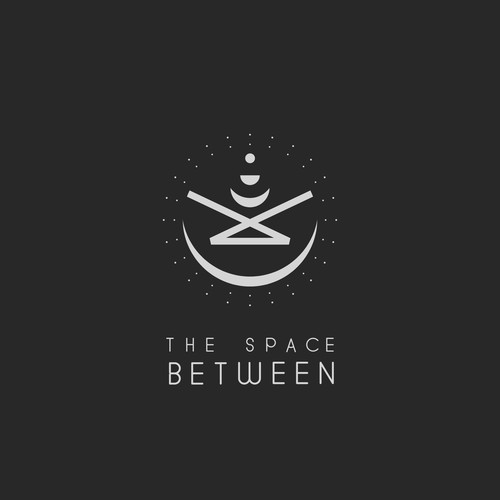 Luna logo with the title 'Logo for record Label. 'The Space Between''