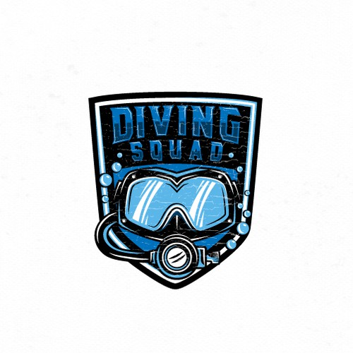 Scuba design with the title 'Bold logo for Scuba Diving website.'
