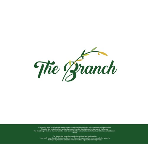 Olive branch design with the title 'logo design'