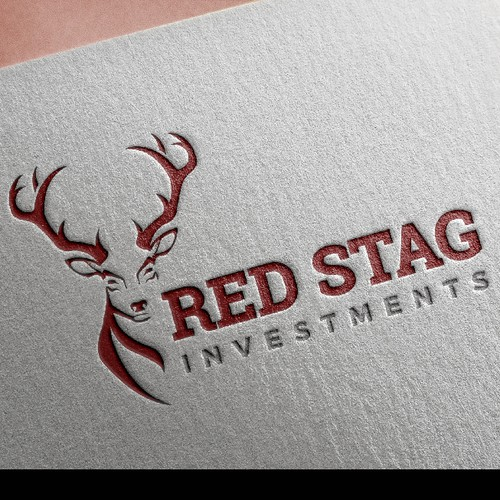 Stag design with the title 'Deer logo'