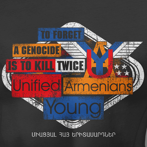Rustic t-shirt with the title 'Armenians'