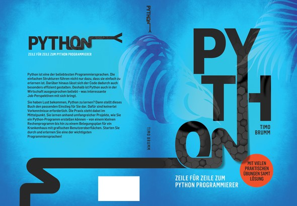 Texture design with the title 'Book cover for Python'
