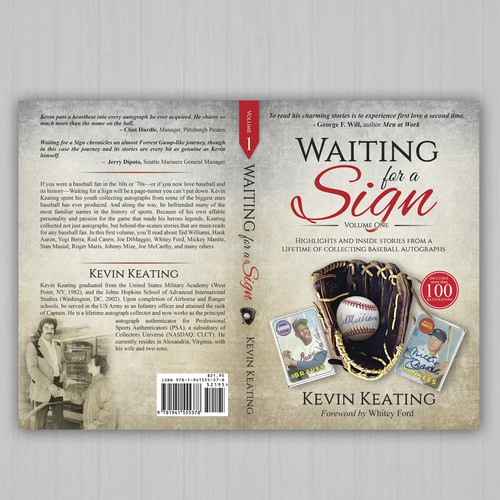 Sports book cover with the title 'Waiting for a Sign  by Kevin Keating'