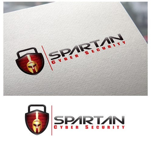 Cybersecurity brand with the title 'cyber security logo'