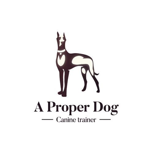 Luminous logo with the title 'Dog logo for Canine trainer'