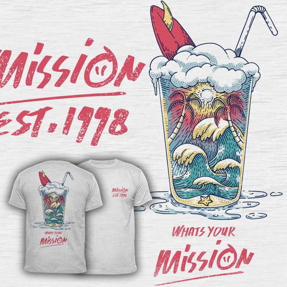 Summer t-shirt with the title 'Whats Your Mission T Shirt'