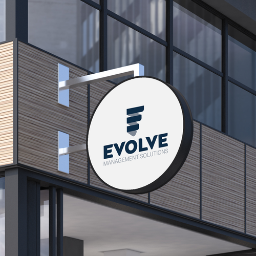 Evolve logo with the title 'Evolve Management Solutions Logo'