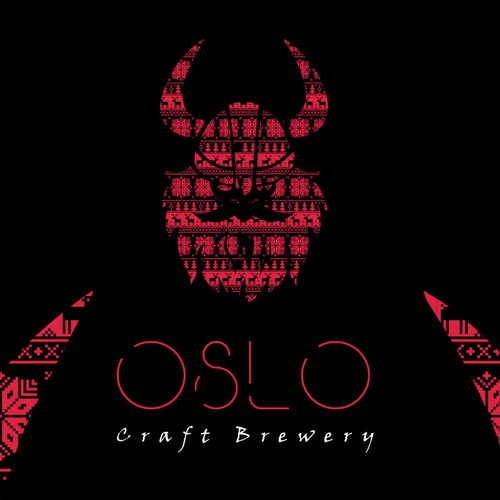 Norway and Norwegian logo with the title 'Logo concept for Oslo craft brewery'