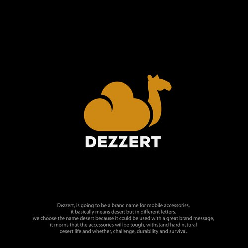 Desert logo with the title 'Camel '