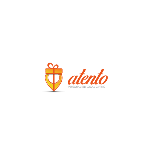 Gift shop design with the title 'Atento'