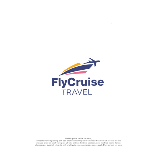 Travel agency brand with the title 'Boat plane traveling logo'