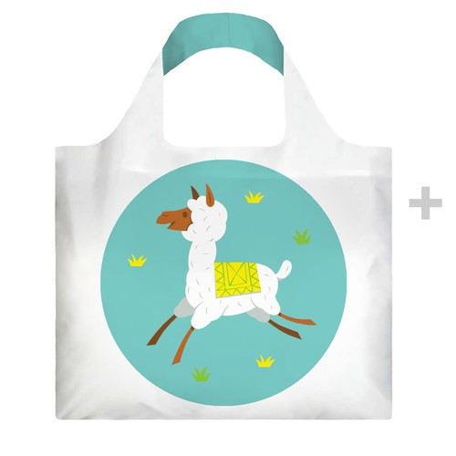 Bag illustration with the title 'One new design for our eco bag'