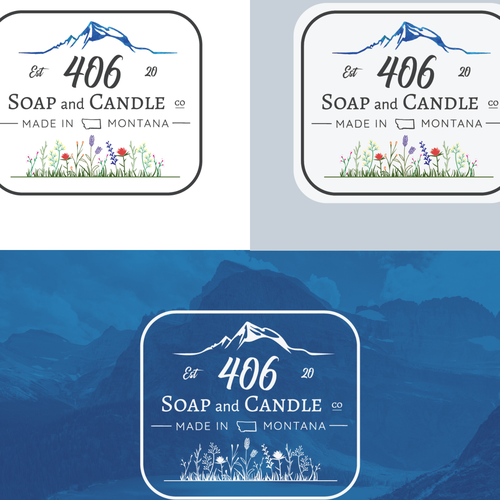 Wilderness logo with the title 'Soap & Candle logo '