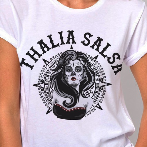Aztec logo with the title 'Logo design for Thalia salsa'