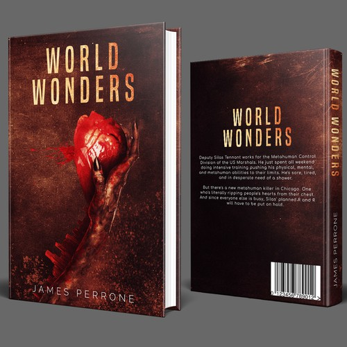 Heart book cover with the title 'World Wonders Book Cover'