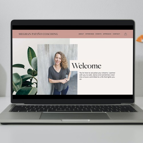 Branding website with the title 'Meghan Patino Coaching'