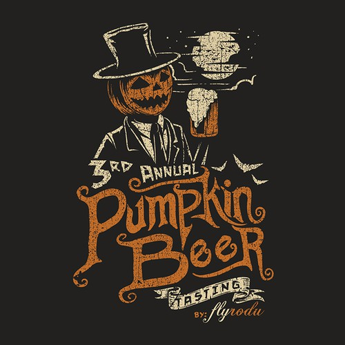 Food t-shirt with the title 'Pumpkin Beer'