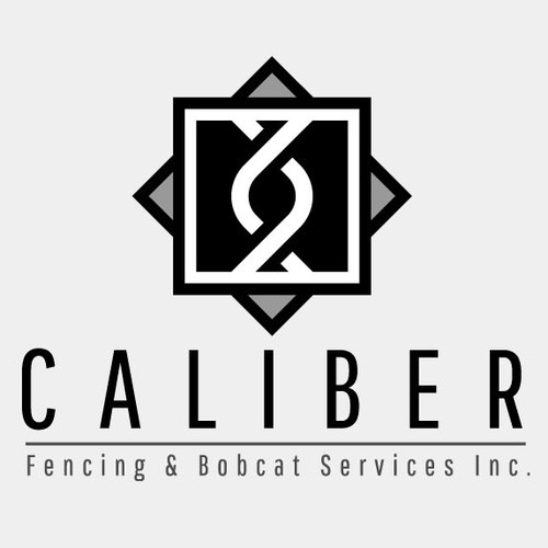 Fence design with the title 'CALIBER Inc.'