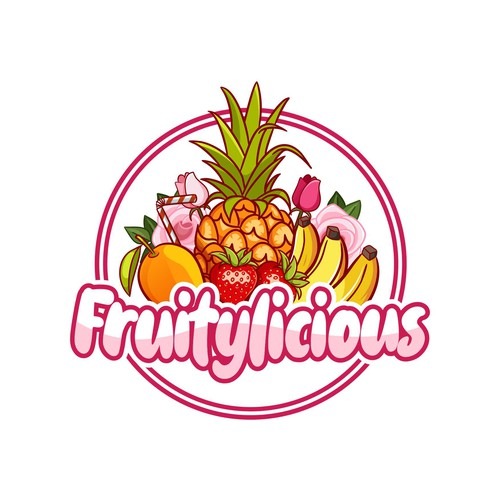 Dessert logo with the title 'eye-catching logo in pastel colors for brands that sell dessert smoothies'