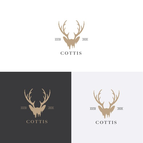 Woods design with the title 'Logo for Luxury Cottages in Finland'