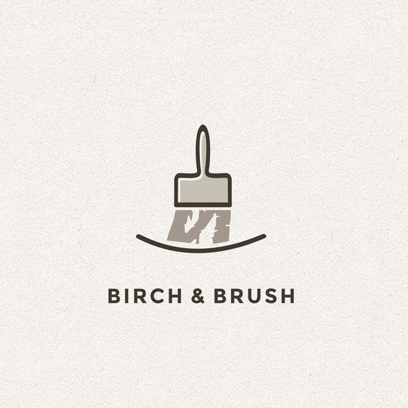 Birch design with the title 'brush logo'