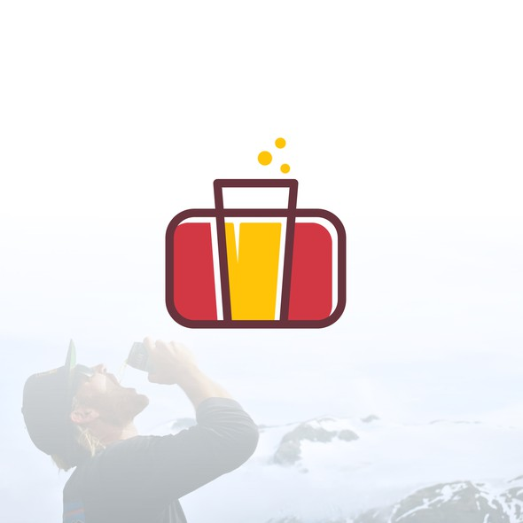 Briefcase design with the title 'Beer Travel'