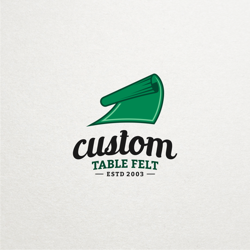 Table logo with the title 'Table felt logo design contest entry'
