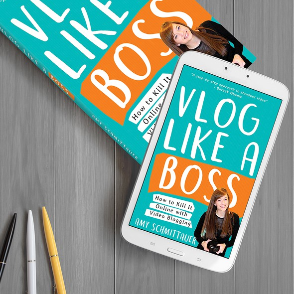 Boss design with the title 'Vlog Like a Boss'