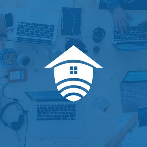 Smart home logo with the title 'SmartPro Home Logo'