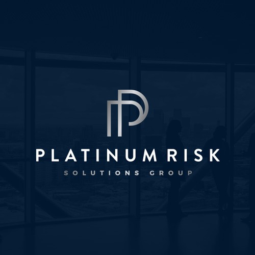 Metallic design with the title 'Logo design for Platinum Risk Solutions Group'