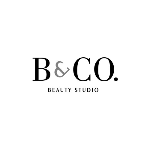 Black and white logo with the title 'Black n White logo for a Beauty Studio'