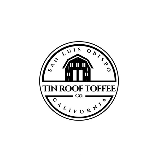 Farmhouse logo with the title 'Logo for Hand crafted toffee company'