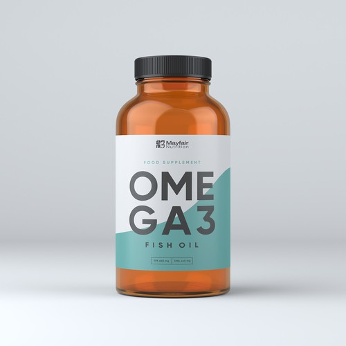 Product label with the title 'OMEGA3'