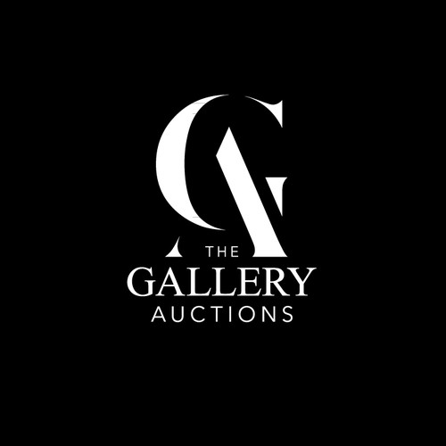 Auction design with the title 'Modern logo for The Gallery Auctions'